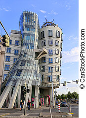Dancing House (Ginger and Fred). Modern Architecture in Prague, Czech Republic