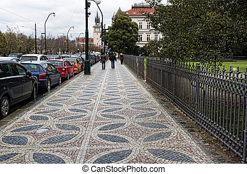 The streets and squares of Prague
