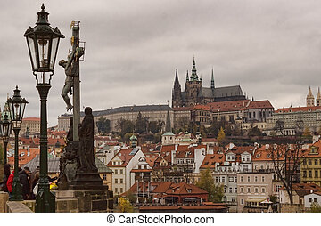 View of Prague Castle from the Charles Bridge
