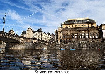 Prague from Vltava