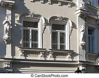 Prague - Gold Street in Hradcany - Prague - Neruda Street in...