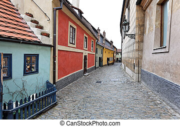 Prague, Golden Lane at Prague Castle - Prague, the Golden...