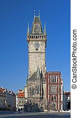 Prague - Historic Astronomical clock (Orloj) on the Old City Hall