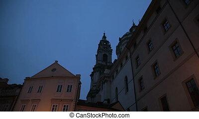 prague, hiver, église