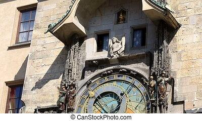 prague, horloge, astronomique