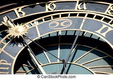 Prague hours - fragment of an astronomical clock in Prague...