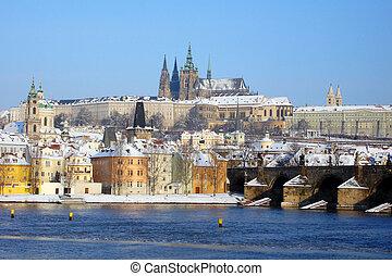 Prague Hradcany in winter