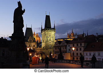 Prague in the early evening