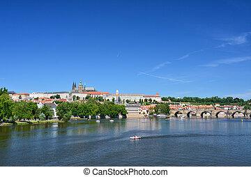 Prague landmark view