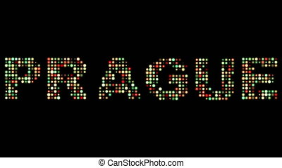 Prague led text