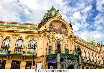 Obecni Dum (Municipal House) in Prague