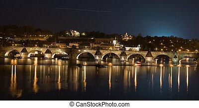 Prague night scenery