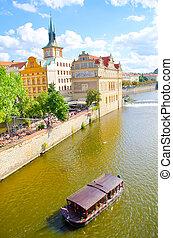 Prague, Ola town, river in Prague