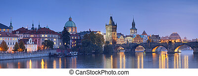 Prague. - Panoramic image of Prague, capital city of Czech...