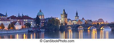 Prague. - Panoramic image of Prague, capital city of Czech ...