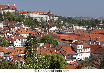 Prague - Panoramic with Hradcany and Lesser Town