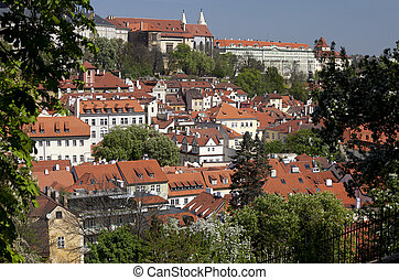 Prague - Panoramic with Jansky Vrsek and Lesser Town