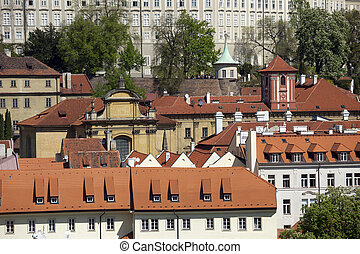 Prague - Panoramic with Nerudova Street and Lesser Town