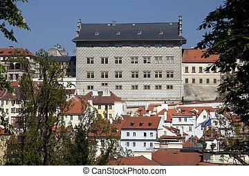Prague - Panoramic with Uvoz Street and Lesser Town - Prague...