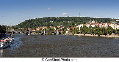 Prague - Petrin Hill, Small Quarter and Vltava River