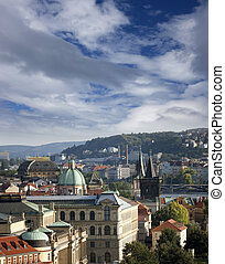 Prague - Rudolfinum Concert hall and Jan Palach Square in Old Town