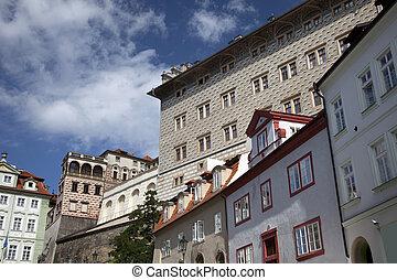 Prague - Schwarzenberg Pallace in Hradcany and neruda Street...