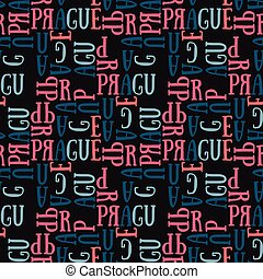 Prague seamless pattern - Prague seamless pattern. Autentic...