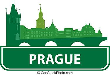 Prague skyline. Vector illustration for you design