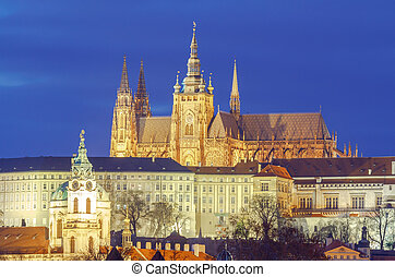 Prague. St. Vitus Cathedral. - St. Vitus Cathedral at Prague...