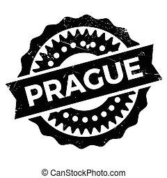 Prague stamp rubber grunge - Prague stamp. Grunge design...
