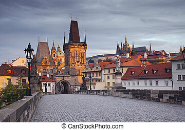 Prague. - Image of Prague taken from famous Charles Bridge.