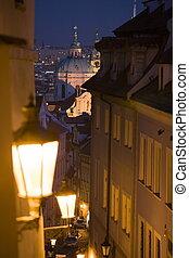 Prague sunset scenery