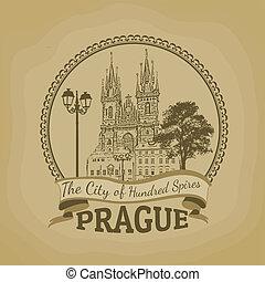 Prague ( The city of hundred spires) poster - Landscape of...