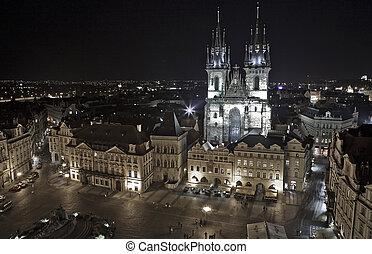 Prague Town Hall at night