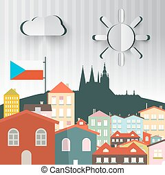 Prague Town. The Capital City of Czech Republic. Abstract...