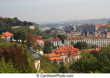 Prague view from above.