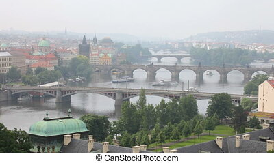 Prague, view of the Vltava River