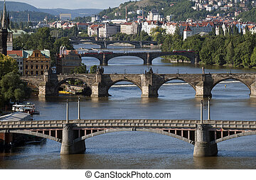 Prague - Vltava River and bridges