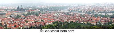 Prague - Vltava river, panorama