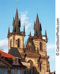 Praha view on city Broach