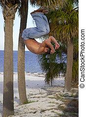 praia, acrobata