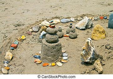 praia areia, castelo