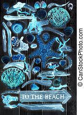 praia, arte abstrata