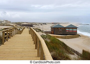 praia, barra, 板張り遊歩道