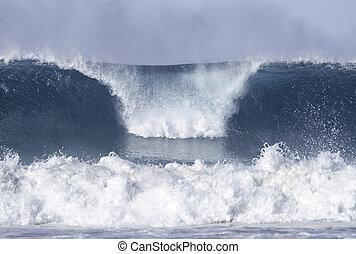 praia, bondi, ondas