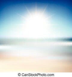 praia, borrão, fundo