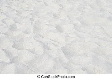 praia branca, areia, fundo, natureza