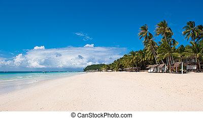 praia, branca, boracay, filipinas, ilha