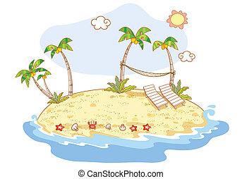 praia, caricatura