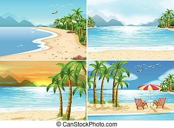 praia, cenas